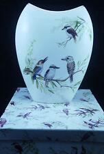 Ceramic Vase White Background Kookaburra Boxed Australian Bird Series