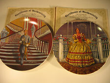 "Gone With the Wind  - Ashley & Melanie - 8 1/2"" Collector Plates '78 -w/ COA"