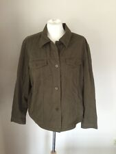 LRL Ralph Lauren 2X Plus Size Army Green Olive Cargo Soft Rayon Cotton Jacket