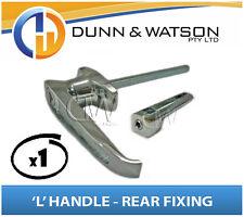 Chrome Plated Rear Fixing 'L' Lock / Handle (Trailer Caravan Canopy Toolbox) x1