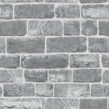 Rasch Urban Stone Brick Grey Wallpaper  217346