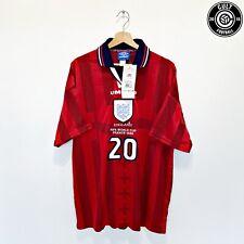 1997/99 Owen #20 Inglaterra Vintage Umbro lejos camiseta de fútbol (XL) 98 WC BNWT