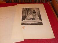 SOCIETE SEPTENTRIONALE DE GRAVURE / EUGENE DETE / MONUMENT WATTEAU signée 1909