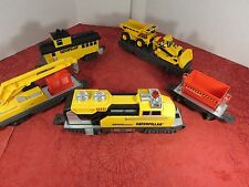 Toy State Caterpillar Construction Express Train Set Battery Operated Engine Car