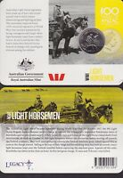 2015 Australia 100 Years Anzac Centenary 20 cent Coin WWI Light Horsemen horse