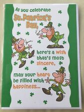 St Patrick's day card. Here's A Wish That's Most Sincere, New And Sealed. ☘️☘️☘️