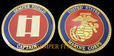 CAPTAIN CHALLENGE COIN US MARINES 0-3 SKIPPER USMC PIN UP PROMOTION GIFT WOW!