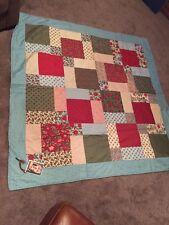Authentic Handmade Lap Size 65 X 65 Quilt $240 Beautiful