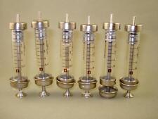 Set of 6 Vintage Old Bulgarian Medical Glass Syringes 5ml