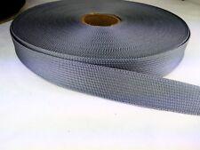 1 inch wide SILVER lightweight webbing
