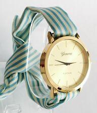 Reloj Mujer Moda Elegantes Correa De Tela De Algodón Nueva