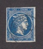 Greece stamp #36, used, numbers on back, 1870, SCV $24.00