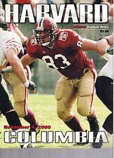 2000 Harvard vs Columbia Football Program  - Ex Mint