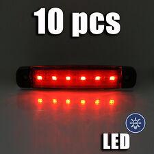 ROUGE LED feu de position 12V x 10 pièces lampe CAMION BUS VAN CARAVANE