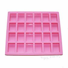 Rectangle Guest Baby Bath Shower Plain Basic Soap Bar Silicone Mold