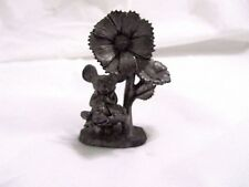 M.A. Ricker Pewter Figurine 2 Mice and Flowers