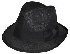 MLN Linen Youth Size Fedora 8~20 S/M 57~58cm Black