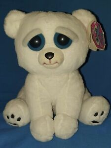 FEISTY PETS KARL THE SNARL POLAR BEAR PLUSH TOY NICE TO NASTY WITH A SQUEEZE