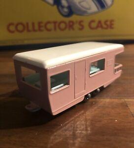 Vintage Lesney Matchbox No 23 Trailer Caravan Pink England