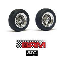 """BRM 2 LLANTAS RADIOS ALEACION DE 15"""" - NEUMATICOS 20x7mm BORRANI 3/32 PCS MITOOS"""
