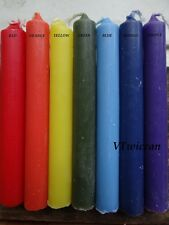 7 CHAKRA Ritual Chime Candle Set Wiccan Pagan Metaphysical Altar Supply