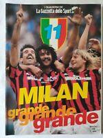 MILAN GRANDE GRANDE GRANDE + POSTER 11 SCUDETTO GAZZETTA DELLO SPORT MAGGIO 1988