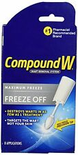 2 Pack Compound W Freeze Off Wart Removal System for Common & Plantar Warts 8 ap