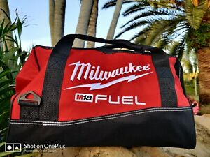 Milwaukee 16 Inch Heavy Duty Deep Wide Mouth Tool Bag Double Stitch W/6 Pockets