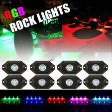 8Pod RGB LED Under Body Lights Rock Lamp Off-Road Trucks  Bluetooth Wireless