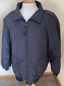 Blauer Jacket Coat Zip Out Lining Gray Black Full Zip Sz 4XL TALL