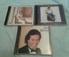 Lot 3 JULIO IGLESIAS CDs 1100 Bel Air Place, Non Stop, Starry Night Mint NM
