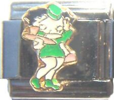 Italian Charm Betty Boop Green Dress Waitress St. Pat's