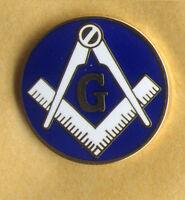 freemason compass and square with G lapel badge the craft masonry masonic