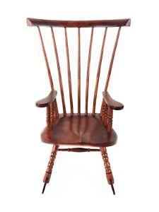 "Kingstate Vintage Wood Windsor Rocking Chair 18"" American Girl Doll or Bear"