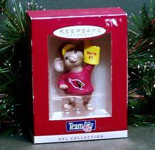 "1996 Hallmark NFL Ornament ""Cardinals"" Mouse in Jersey w/ Foam Finger Football"