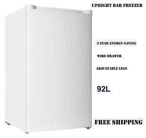 92L UPRIGHT VERTICAL BAR FREEZER FRIDGE BRAND NEW Free Shipping