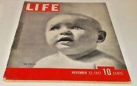 November 22, 1937 LIFE Magazine Old ads, FREE SHIPPING Nov. 11/37 20 21 23 24 25