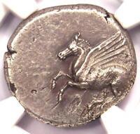 Corinthia Corinth AR Stater Coin (300 BC) Pegasus & Athena - Certified NGC XF