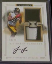 2017 IMPECCABLE JUJU SMITH SCHUSTER AUTO # /75 ELEGANCE HELMET PATCH STEELERS RC