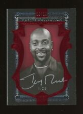 2015 Upper Deck Master Collection Red Jerry Rice HOF AUTO 18/20