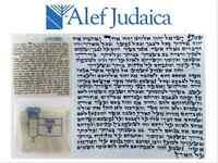 High Quality Kosher Mehadrin Mezuzah Scroll Parchment Klaff - 2.5 X 2.5 Inches