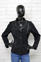 Giacca ROCCOBAROCCO Donna Nera Vintage Taglia 46 Jacket Woman Cappotto Primavera