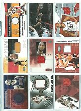 ALONZO ZO MOURNING HEAT NETS USA GAME USED GU PATCHES JERSEYS FLOOR BALL LOT 9CT