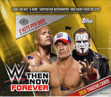 2016 TOPPS WWE THE, NOW, FOREVER WRESTLING HOBBY BOX FACTORY SEALED NEW