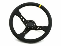 Universal 350mm Deep Dish Steering Wheel PVC Leather Sports Drift Rally Race