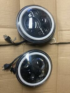 "NA MIATA Headlights (Pair) Mazda MX-5 MX5 LED 7"" Plug N' Play Wide Halo NEW"