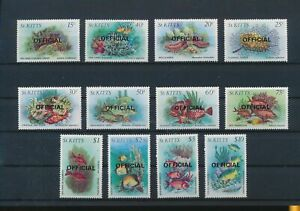 LO44306 St Kitts official overprint fine lot MNH