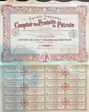 French bond certificate > Comptoir des Produits du Petrole > 1920 Paris France