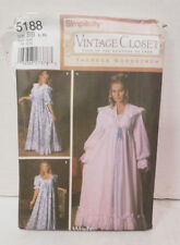 Simplicity Pattern 5188 Vintage Closet Uncut Nightgown Robe Theresa Nordstrom BB
