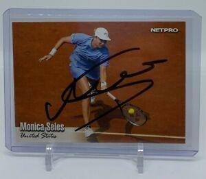 Monica Seles Autographed 2003 NetPro Tennis Rookie Card Signed Auto